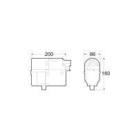 Габаритные размеры Hydronic 5 B5W SC бензин (12 В)