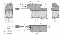 Габариты подогревателя Hydronic B5SC бензин (12 В)