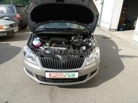 Установка жидкостного подогревателя Webasto Thermo Top E на автомобиль Skoda Roomster