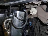 Установка жидкостного подогревателя Eberspacher на автомобиль Mitsubishi Lancer X