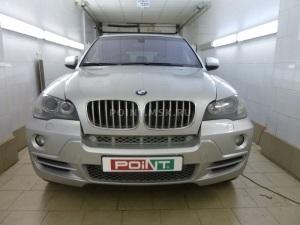 Установка замка капота (механической защиты) Aurora на BMW X5